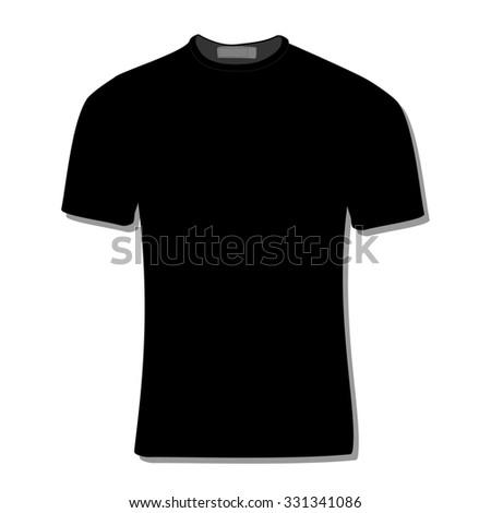 Illustration of  t-shirt,  clothes,  man shirt,  polo shirt, black shirt,  shirt template  - stock photo
