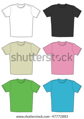 Illustration of t-shirts in different colors