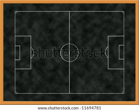 Illustration of tactics board in stadium changing room