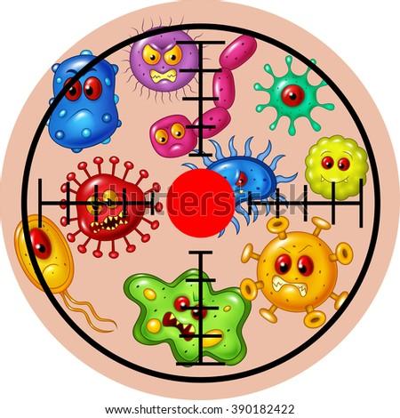 Illustration of target virus - stock photo