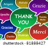 Illustration of Thank you in many languages - stock photo