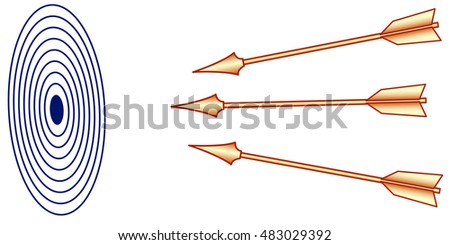 Illustration of the arrows and target icon