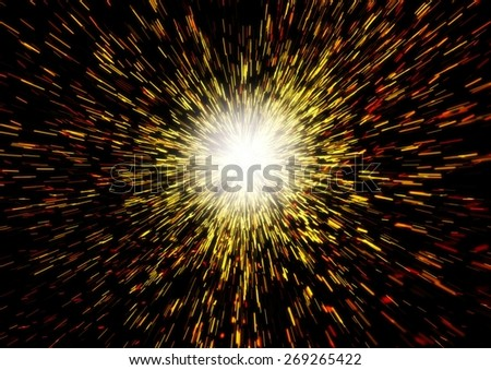 Illustration of the Begining of the Universe - stock photo