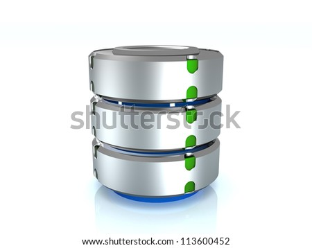 Illustration of the database on the mirror surface. ?3 - stock photo