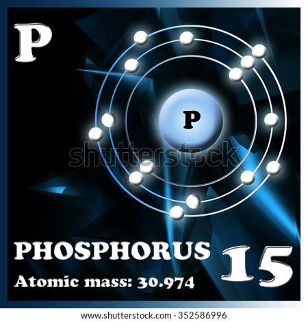 Illustration of the element Phosphorus - stock photo