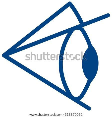 Illustration of the eye icon - stock photo