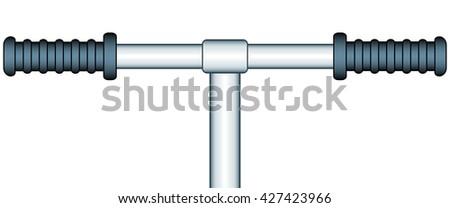 Illustration of the handle bar icon - stock photo