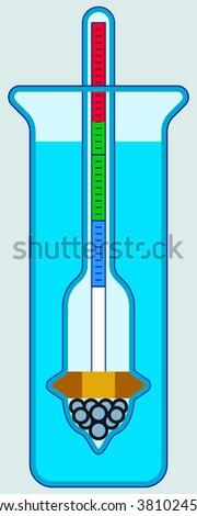 Illustration of the hydrometer icon - stock photo
