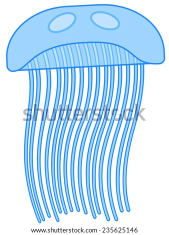 Illustration of the jellyfish icon - stock photo