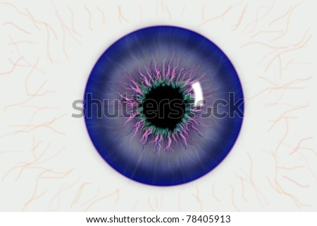 illustration of the pupil of the eye - stock photo