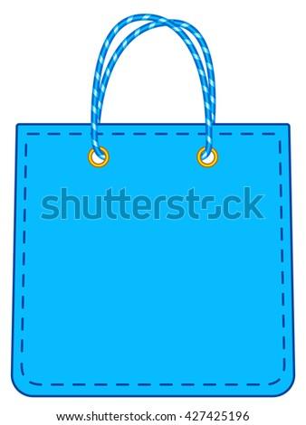 Illustration of the shopping bag icon - stock photo