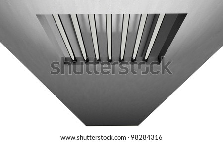 Illustration of the window of a jail. - stock photo