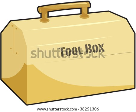 illustration of tool box on white
