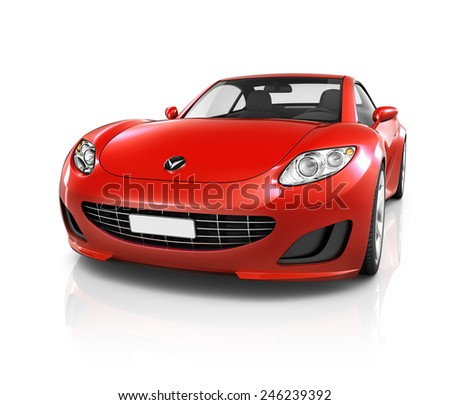 Illustration of Transportation Technology Car Performance Concept - stock photo