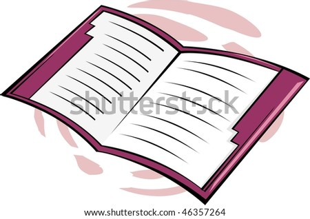 Illustration of two red cover files - stock photo
