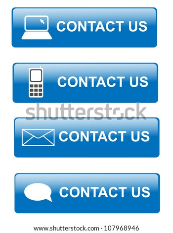 Illustration of various way for contacting customer support - stock photo
