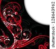illustration of vector background in gothic style - stock
