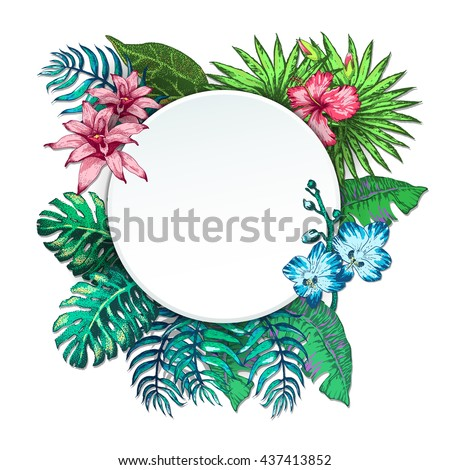 Illustration of Vintage T-short Print. Summer on beach - stock photo