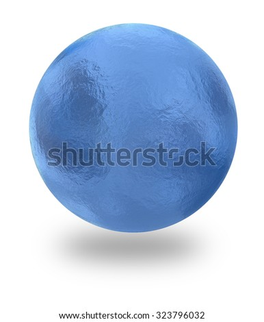 Illustration of water sphere isolated on white background - stock photo