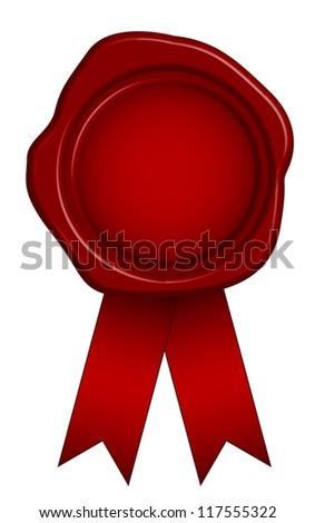 Illustration of wax seal - stock photo