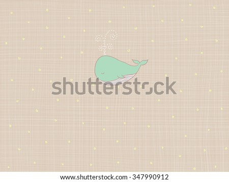 Drawing With Lines And Dots : Illustration whale over lines dots light stock