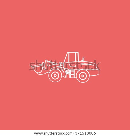 Illustration of wheel loader. - stock photo