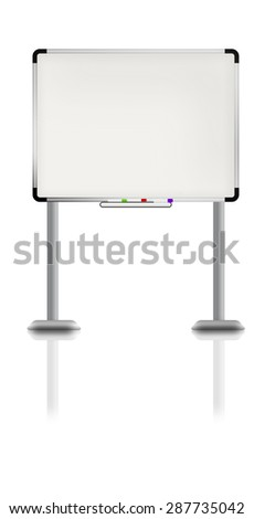 Illustration of white board.