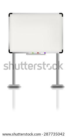 Illustration of white board. - stock photo