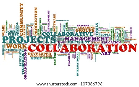 Illustration of wordcloud representing cities concept of collaboration - stock photo