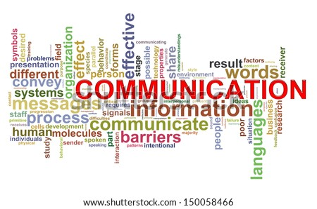 Illustration of Wordcloud word tags of communication - stock photo