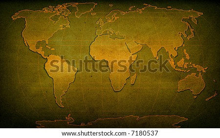 illustration of world map on textured background