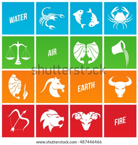 Illustration of Zodiac Star Signs