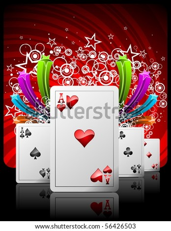 illustration on a casino theme with playing cards (JPG VERSION) - stock photo