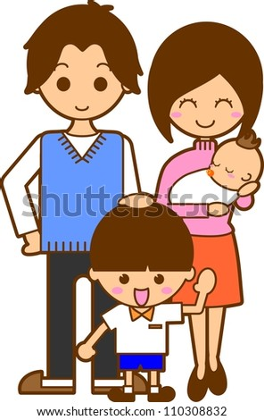 Illustration parents family