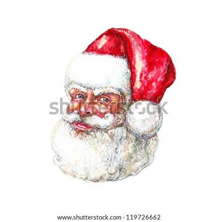 Illustration: Portrait of Santa Claus - stock photo