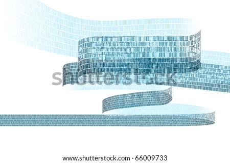 illustration showing a stream of digital data - stock photo