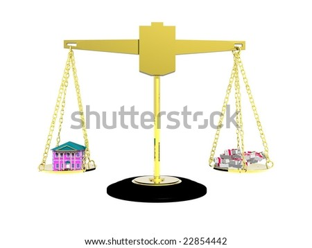 Illustration showing prices for property - stock photo