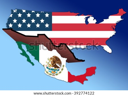 Border Usa Mexico Stock Images RoyaltyFree Images Vectors - Usa and mexico