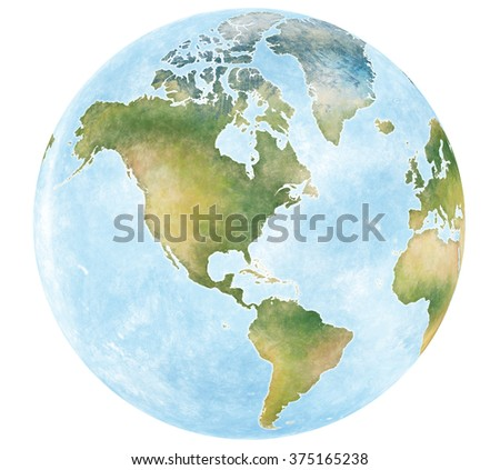 Illustration world map continents planet earth stock illustration illustration world map and the continents of planet earth gumiabroncs Choice Image