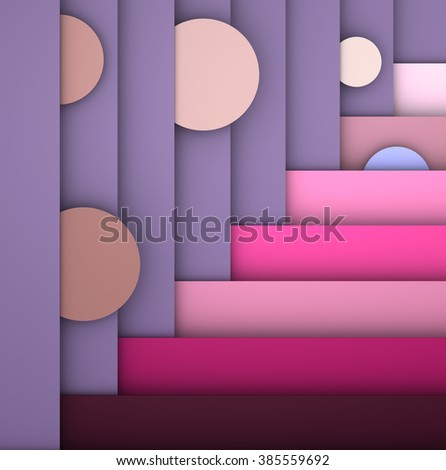 illustrations geometric design with different colors - stock photo
