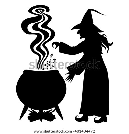 Witch Cake Black And White