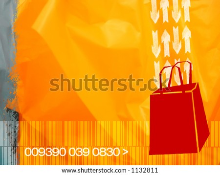 Illustrative concept for consumerism. shopping, sale, discount, etc.