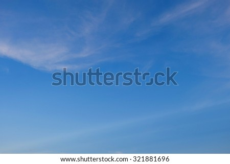 image blue color of clear blue sky background, purity air in the morning - stock photo