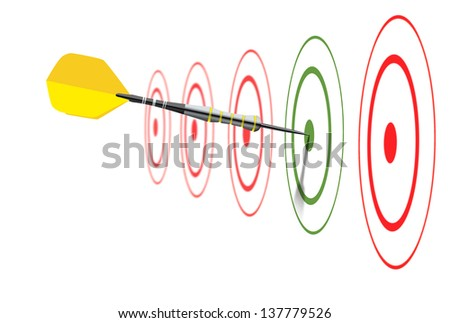 Image concept of marketing strategy - stock photo