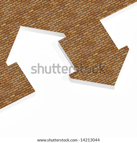image 3d of house icon background - stock photo