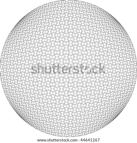 Image.3d puzzle ball in color 20. More see in portfolio  - stock photo