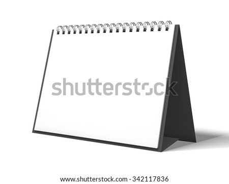 image desk calendar isolated mockup 3D rendering - stock photo
