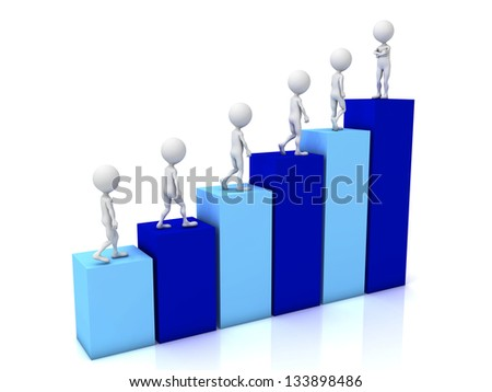Image expressing leadership or win (society for leader) - stock photo
