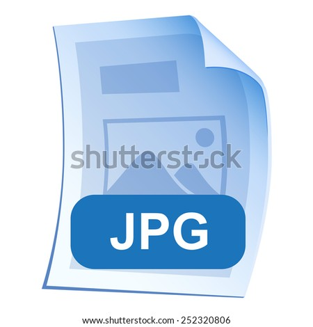 Image File format or file extension JPG icon for interface applications and websites and software isolated on white background. illustration - stock photo