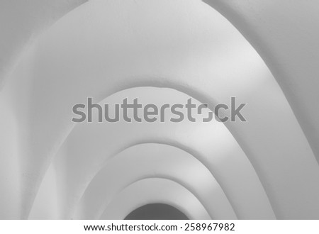 Image for backgrounds: detail of arcs prospective in a long corridor - stock photo